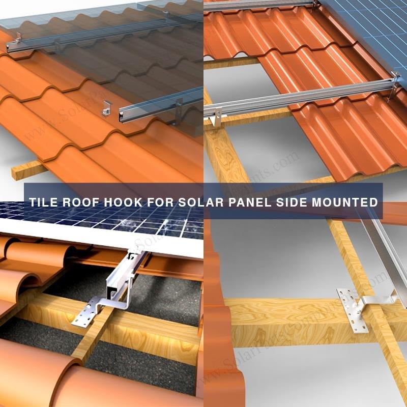 Tile Roof Hooks Brackets For Solar Panel Side Mounted In 2020 Solar Panels Roof Solar Panels Solar