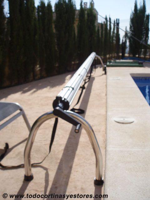 Enrollador para toldo cobertor de piscina toldo Como hacer un cubre piscinas
