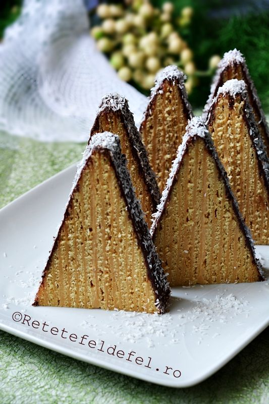 prajitura carpati taart cakes cupcakes pinterest caramel cake and food