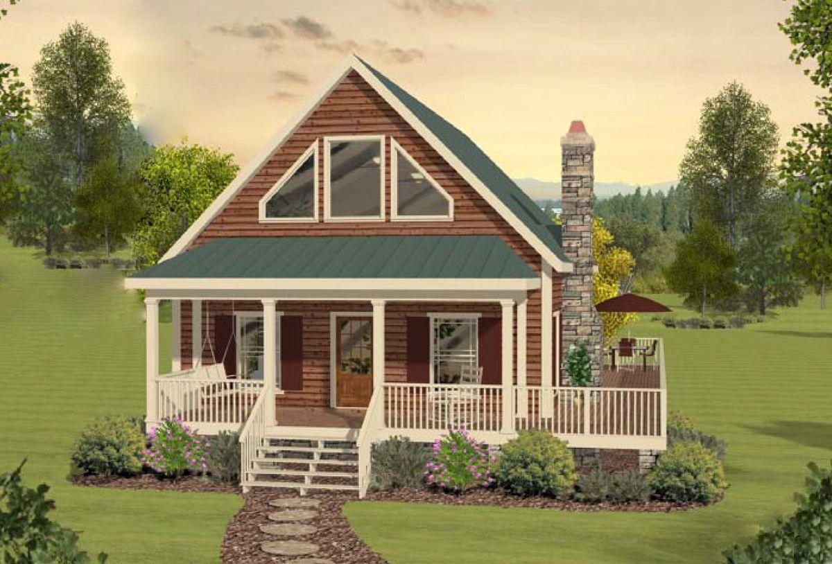 Plan 20099GA Two Bedroom Cottage Home Plan Plan