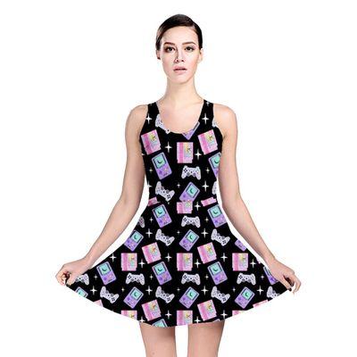 Magical girl gamer reversible skater dress #videogames #gamer #gameboy #kawaii #sparkle #controller #nintendo