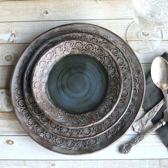 Modern Dinnerware Sets Online Modern Dinnerware Sets Clearance Modern Rustic Dinnerware Place Setting Handmade Ceramic Stoneware & Modern Dinnerware Sets Online Modern Dinnerware Sets Clearance ...
