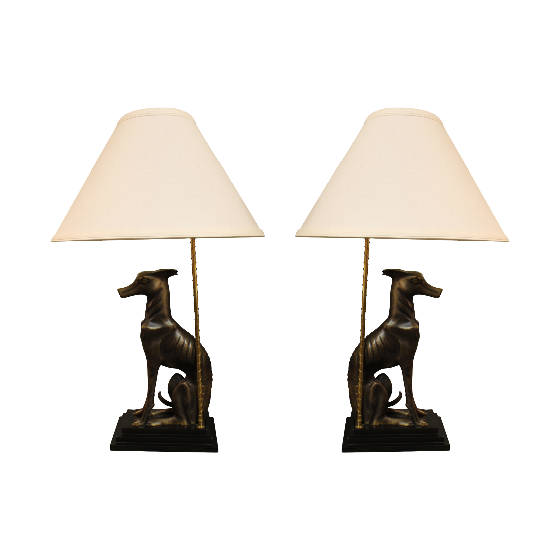 Whippet table lamps whippets table lamp sets and lamp sets vintage whippet table lamps set geotapseo Gallery