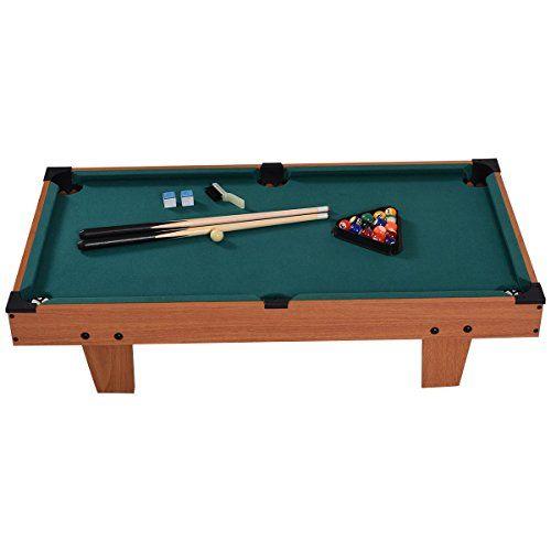Goplus Inch Mini Tabletop Pool Table Game Billiard Set Bank Shot - Tabletop pool table full size