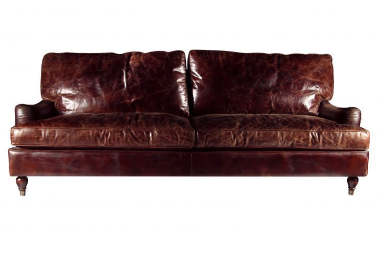 sofa de couro e madeira rustico - Google Search