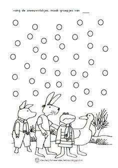 thema winter werkblad kikker in de kou in 2020 kikker