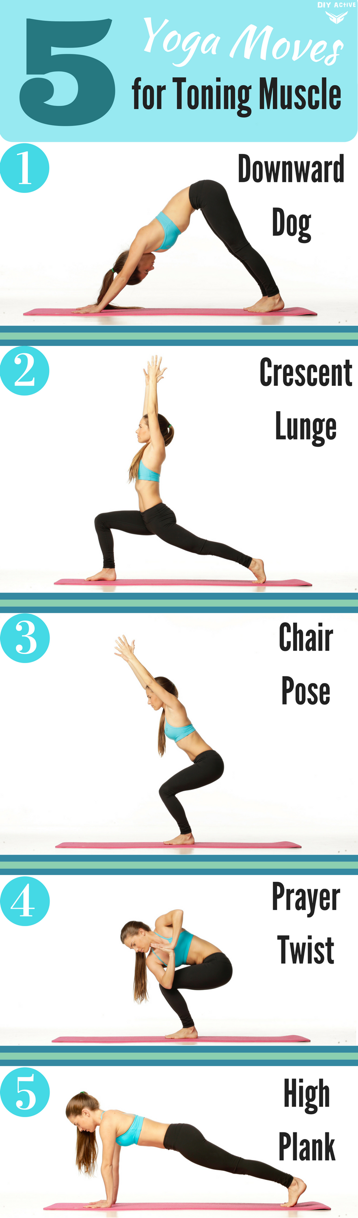 5 Yoga Moves for Toning Muscles via @DIYActiveHQ #yoga #exercise #workout