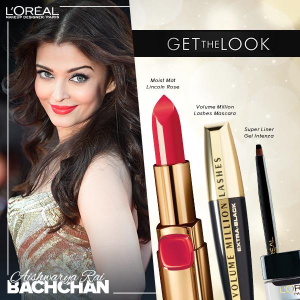 Aishwariya Rai Cannes 2014 makeup breakdown, Aishwariya rai