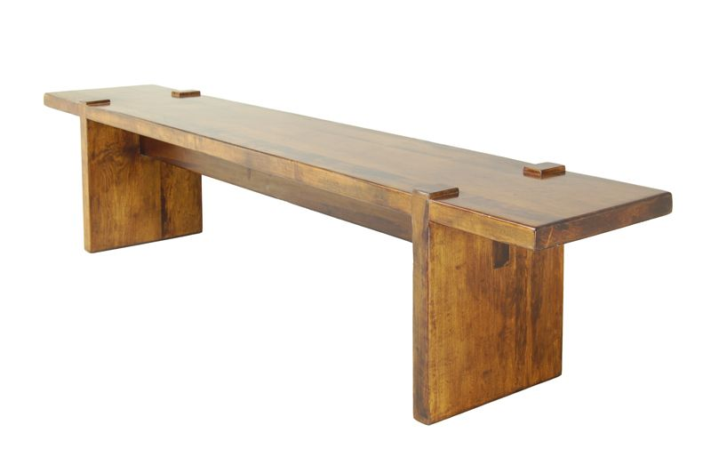 """The Banca Flotante bench has clean modern lines. Model: BU544. Standard dimensions: length: 66"""", width: 15"""", and height: 18""""."""
