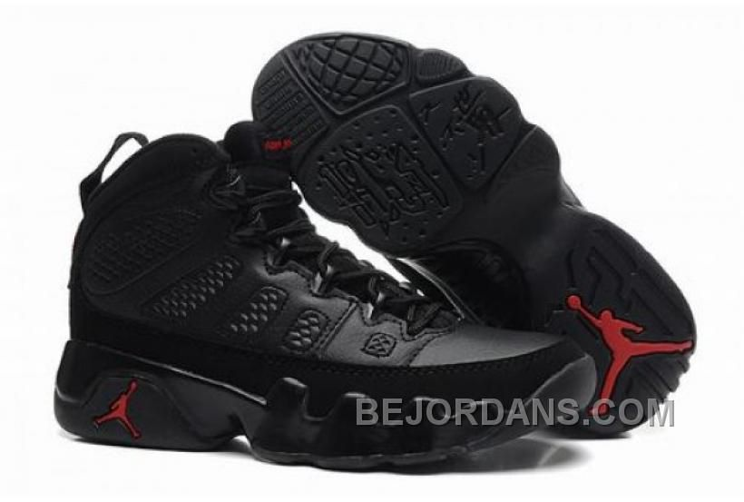 detailed look 4a94e 38a1d Discover the Girls Air Jordan 9 Retro Black Dark Charcoal-Varsity Red For  Sale Christmas Deals collection at Pumarihanna. Shop Girls Air Jordan 9  Retro ...