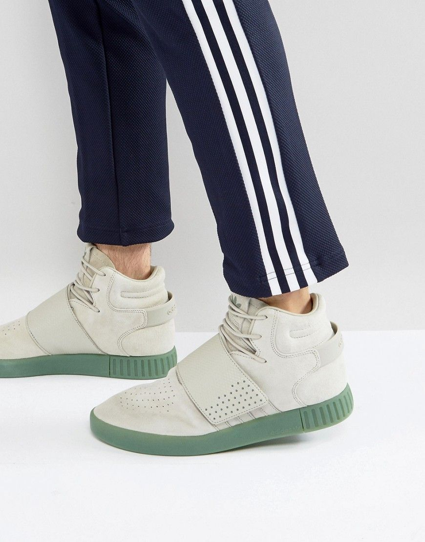hot sale online 7478c 002cd ADIDAS ORIGINALS TUBULAR INVADER STRAP SNEAKERS IN GRAY ...