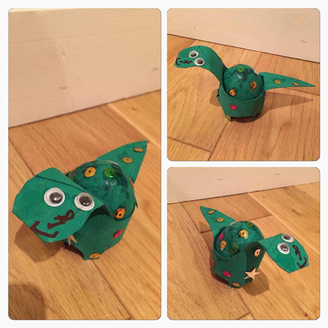 dinosaur easter egg decoration my little man made for his nursery