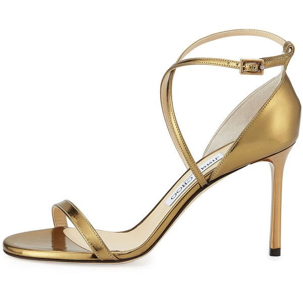 a874cf4fc36 Jimmy Choo Hesper Strappy 85mm Sandal (€760) ❤ liked on Polyvore featuring  shoes