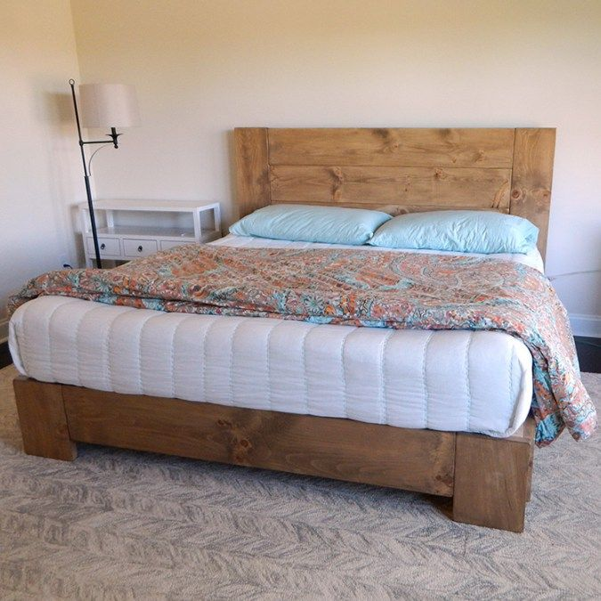 Best Lavonne Rustic Modern Platform Bed Modern Platform Bed 400 x 300