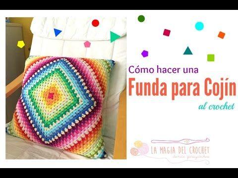 Cuadrado Tejido A Crochet Paso A Paso Para Colchas Cojines Y Cobijas Para Bebe C Cojines De Ganchillo Fundas De Colchon Crochet Tutorial De Tejido A Ganchillo