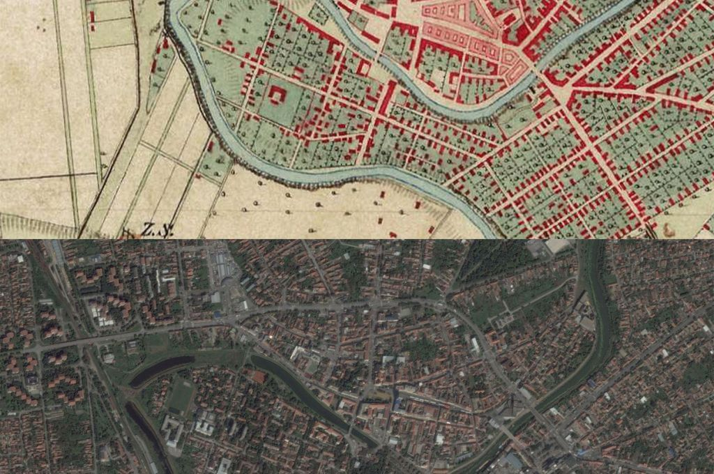Zrenjanin Little America Map Then1860s and Now2010s Maps