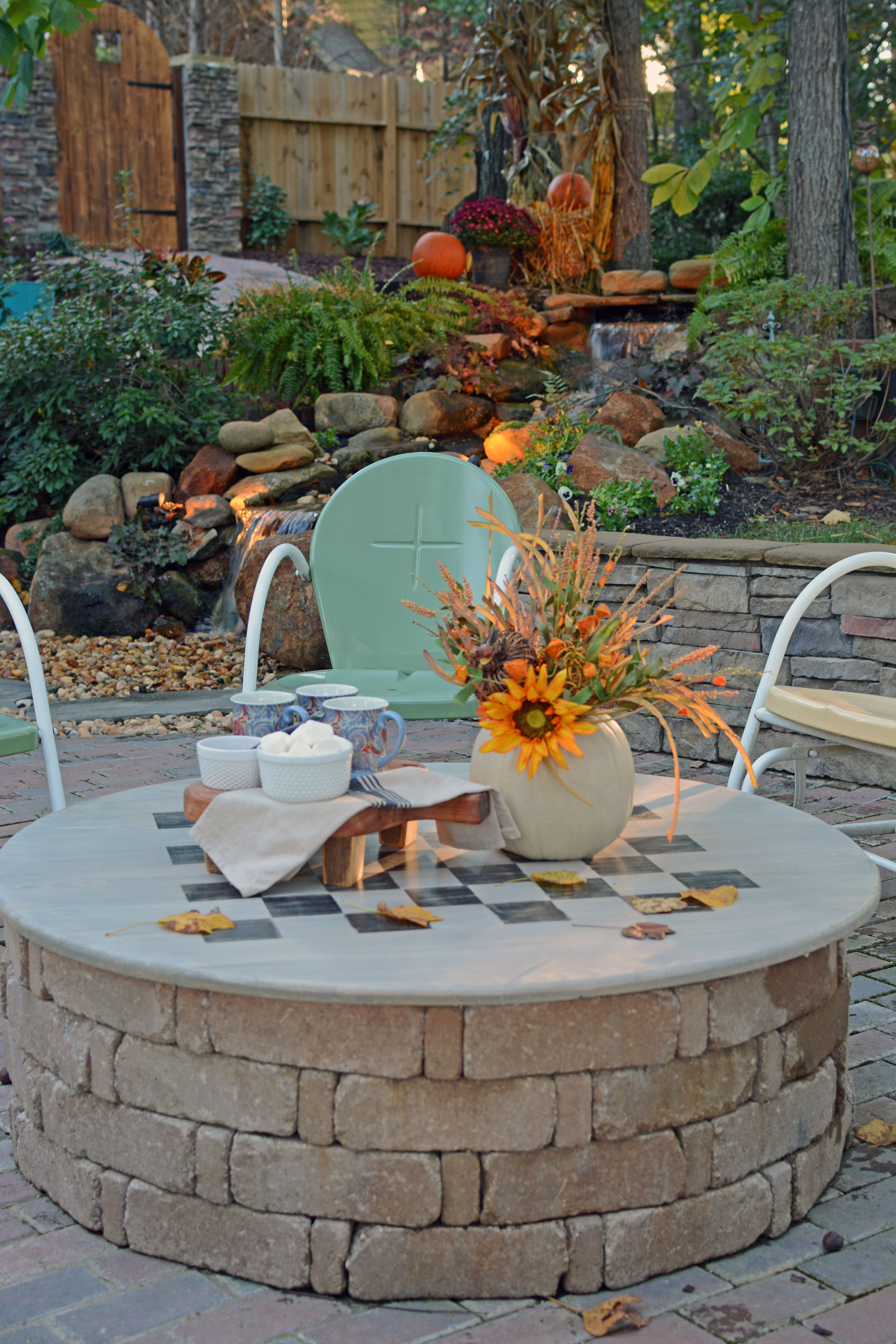 Diy Fire Pit Cover Game Table Backyard Fire Outdoor Fire Pit