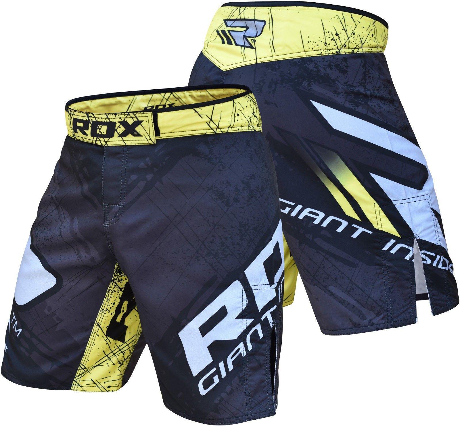 RDX MMA Shorts Training Cage Fight Grappling Martial art Muay Thai Trunks CA