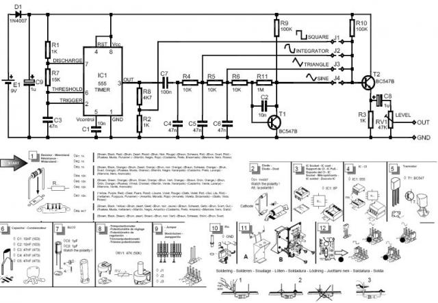 turn signal flasher schematic diy signal generator   electronics   diy electronics ... signal generator schematic