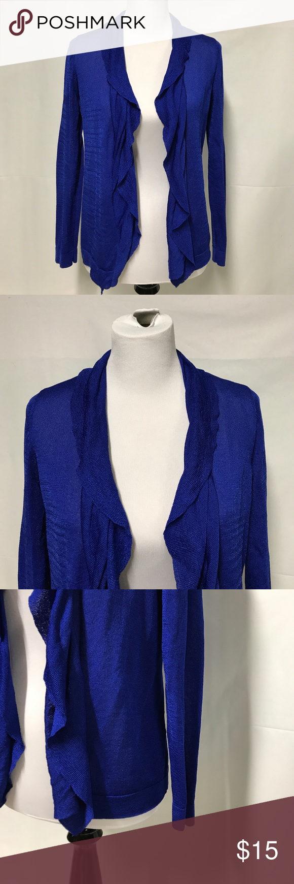 Jones new york royal blue cardigan | Royal blue cardigan, Mid ...