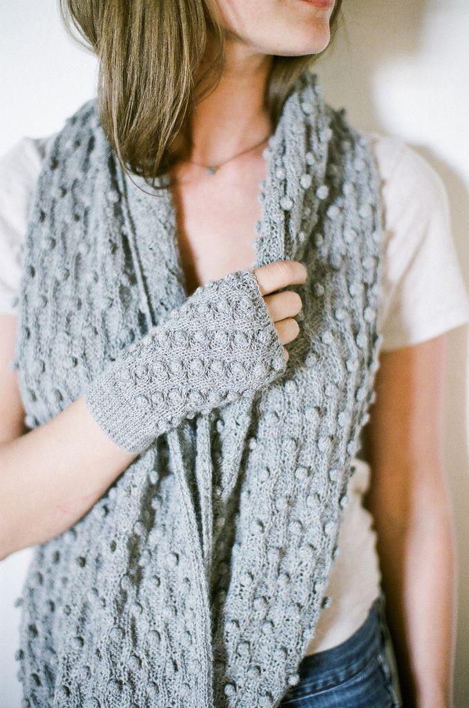 Nuraxi.com Popcorn Infinity Scarf & Fingerless Gloves | warm and ...