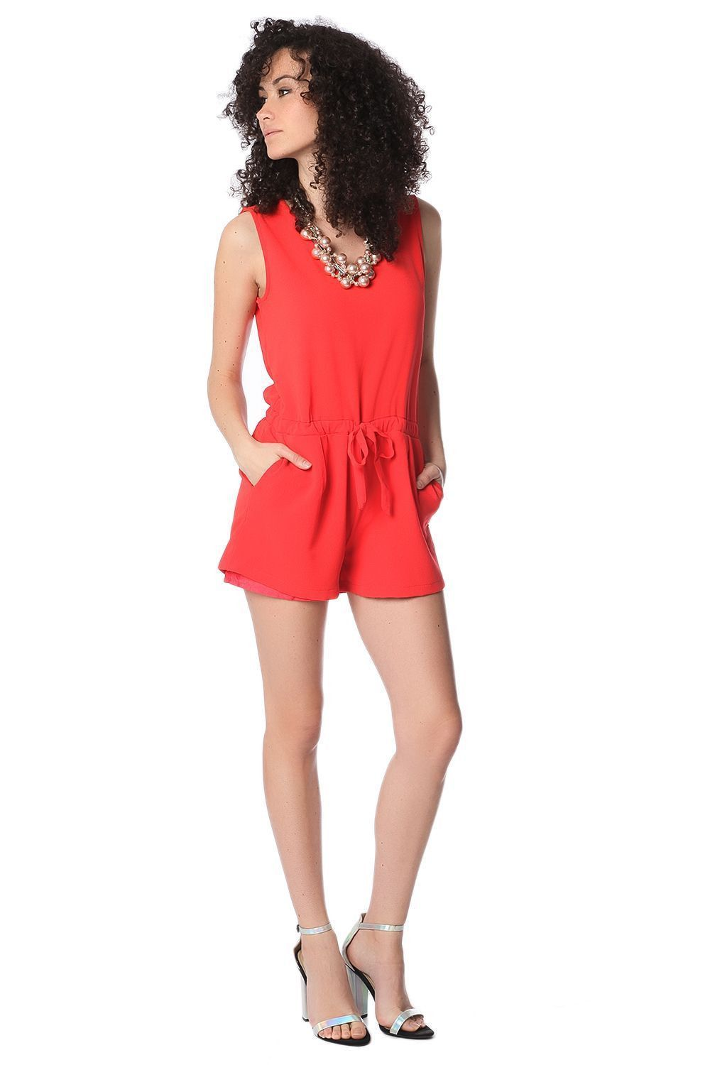 Romper with Cross Back - 2 Colors