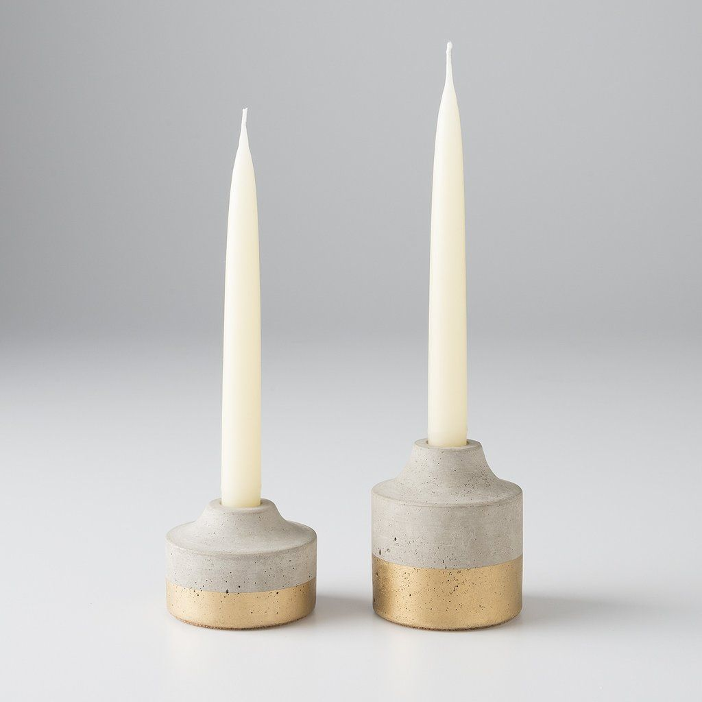 Cute Taper Candle Holders For Sweet Dining Accessories Ideas Candle Sconce Taper Candle Holders Candle Holders Wooden Candle Holders Concrete Candle Holders