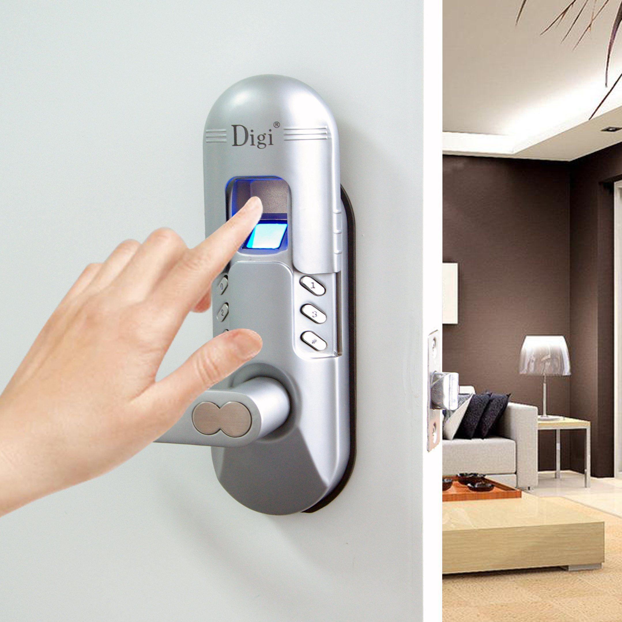 Assa Abloy Digi Electronic Digital Security Fingerprint And Keypad Keyless Door Lock 6600 98 Left Fingerprint Door Lock Smart Home Security Keyless Door Lock