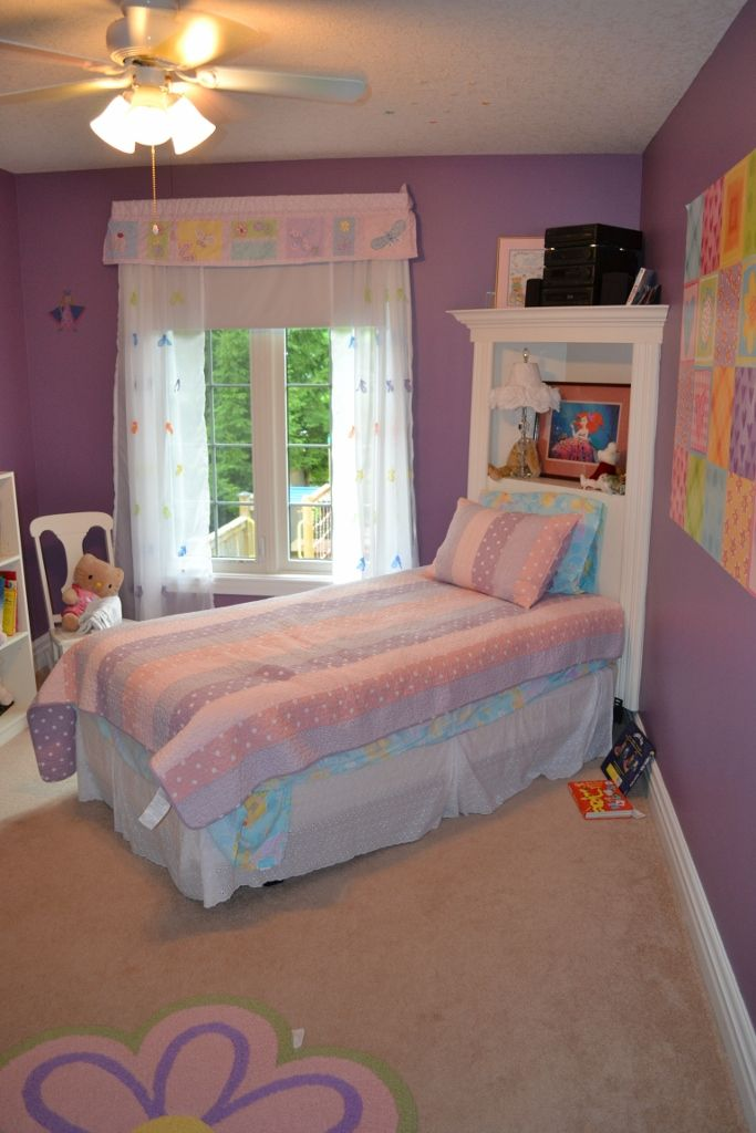 Charming Make The Most Of A Small Bedroom By Building A Headboard Into The Corner. A