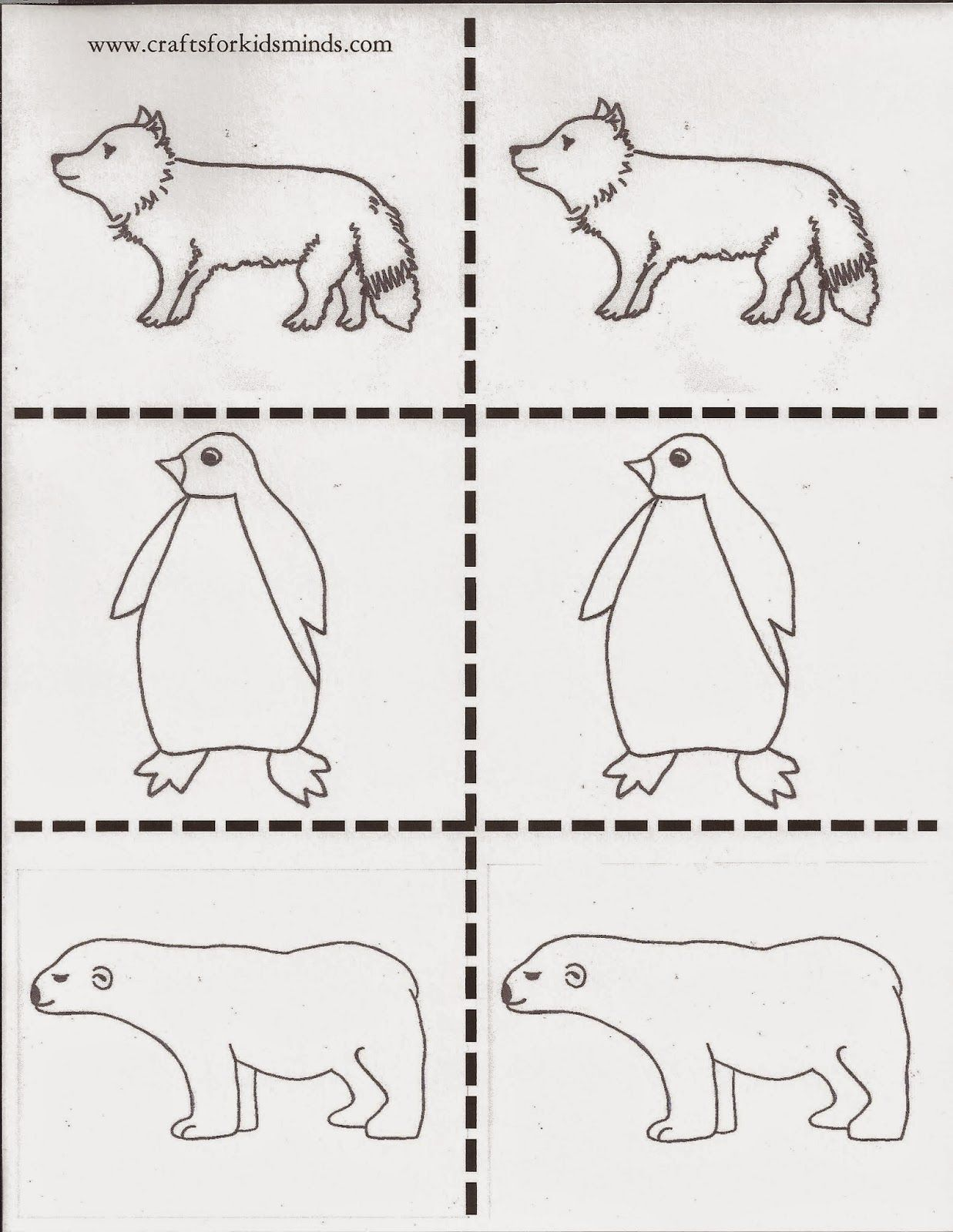 Arctic Animals Memory Game Printable Arctic Animals Bible