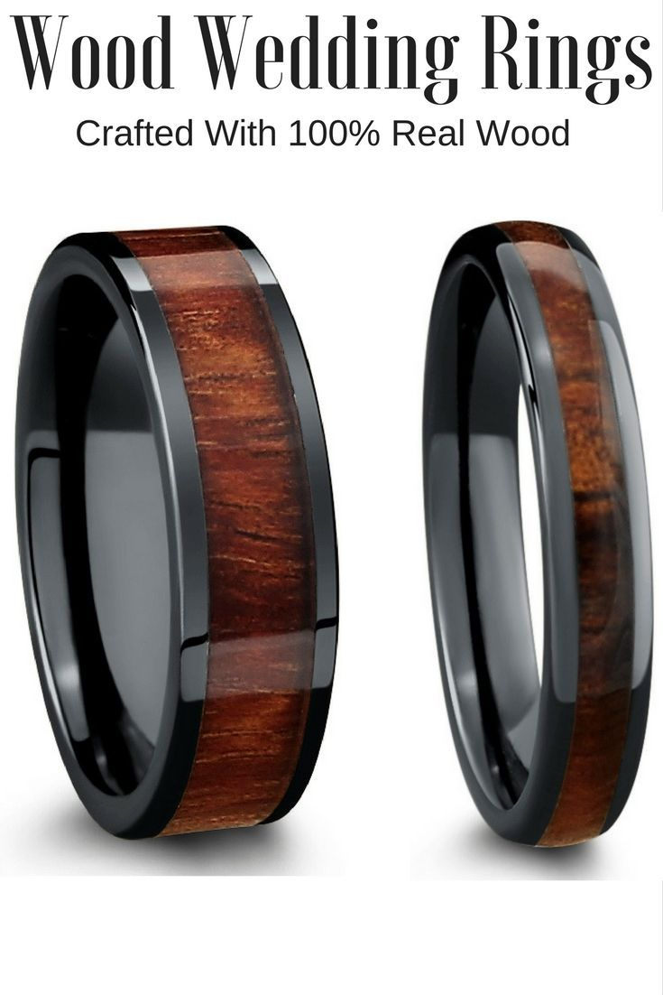 Finally Some Unique Mens Wedding Ring These Wood Rings Are Truly One Of A Kind They Durable And Waterproof
