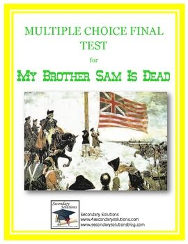 complete final test final exam for my brother sam is dead complete final test final exam for my brother sam is dead includes 25 entirely