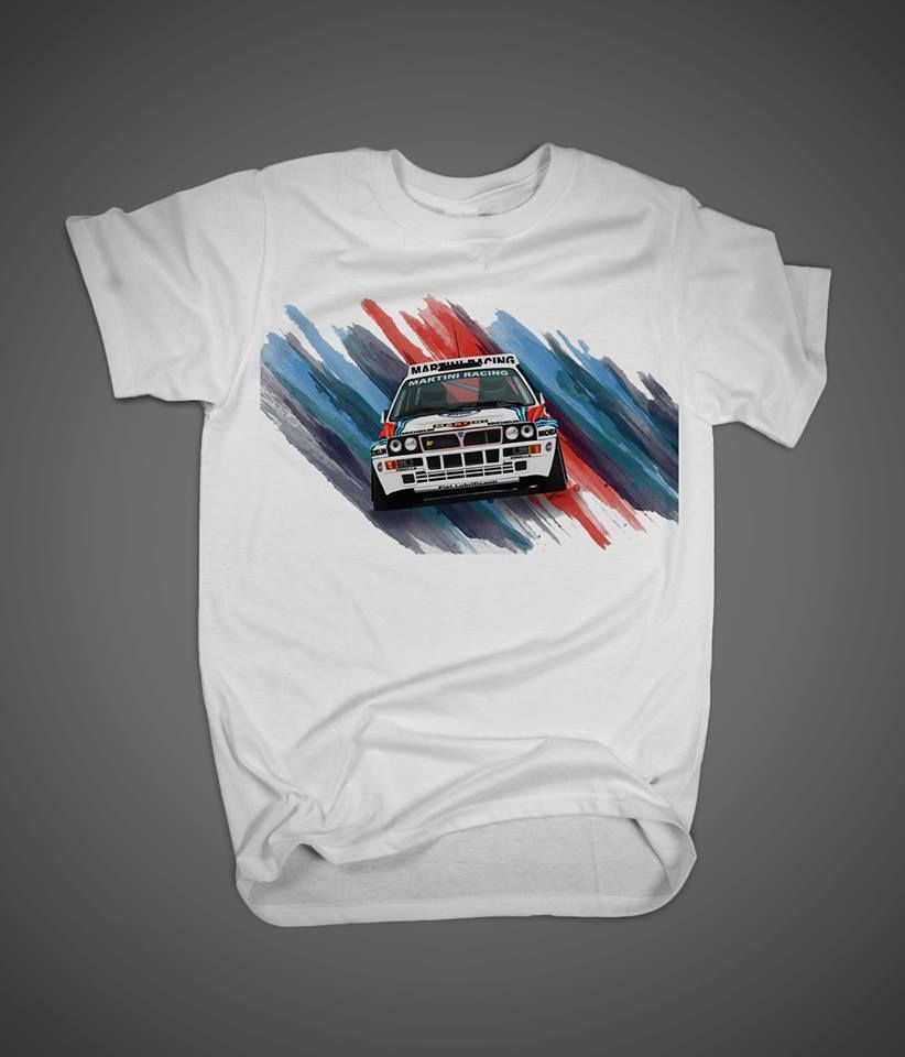 Design your own t shirt digital printing - New T Shirt Lancia Delta Integrale 100 Cotton Personalized Tee Digital Print