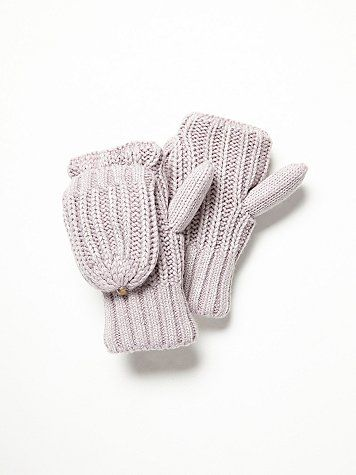 Arctic Washed Pop Top Mittens