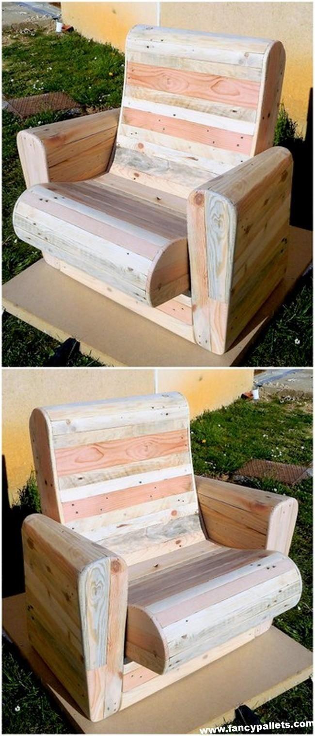 50 Freshly Formed Pallets Wood Reshape Furniture Ideas - Fancy Pallets #woodworkingprojectschair