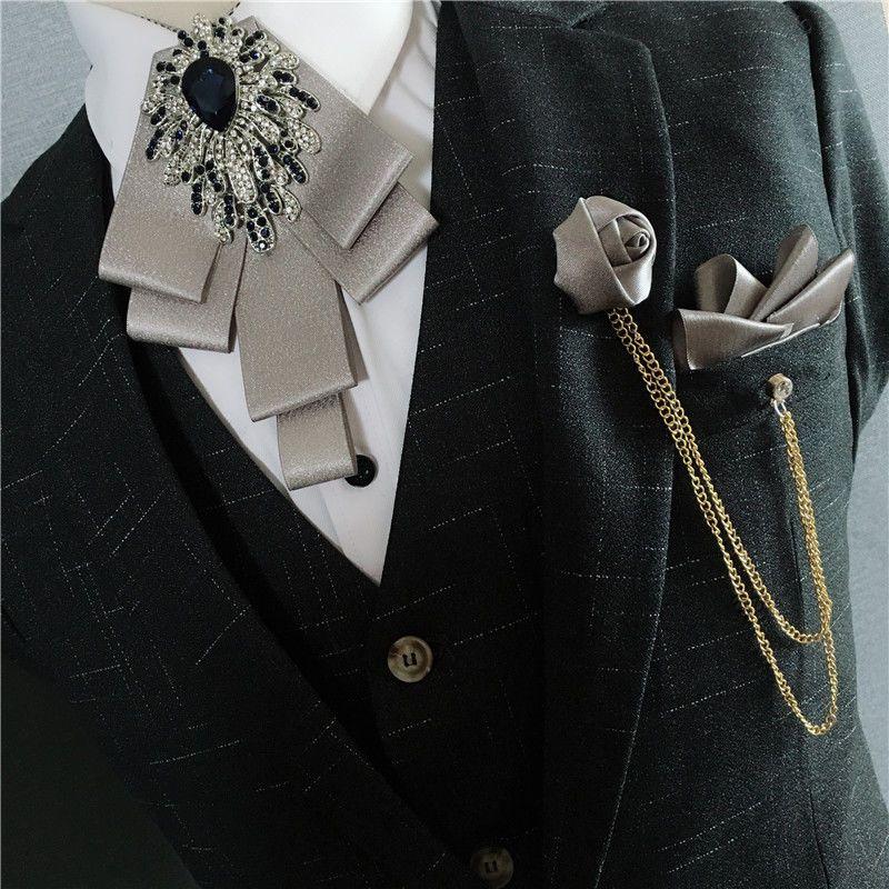 Men Bow Tie Neck Clip-on Solid Color Fancy Dress Wedding Pre Tied Adjustable HOT