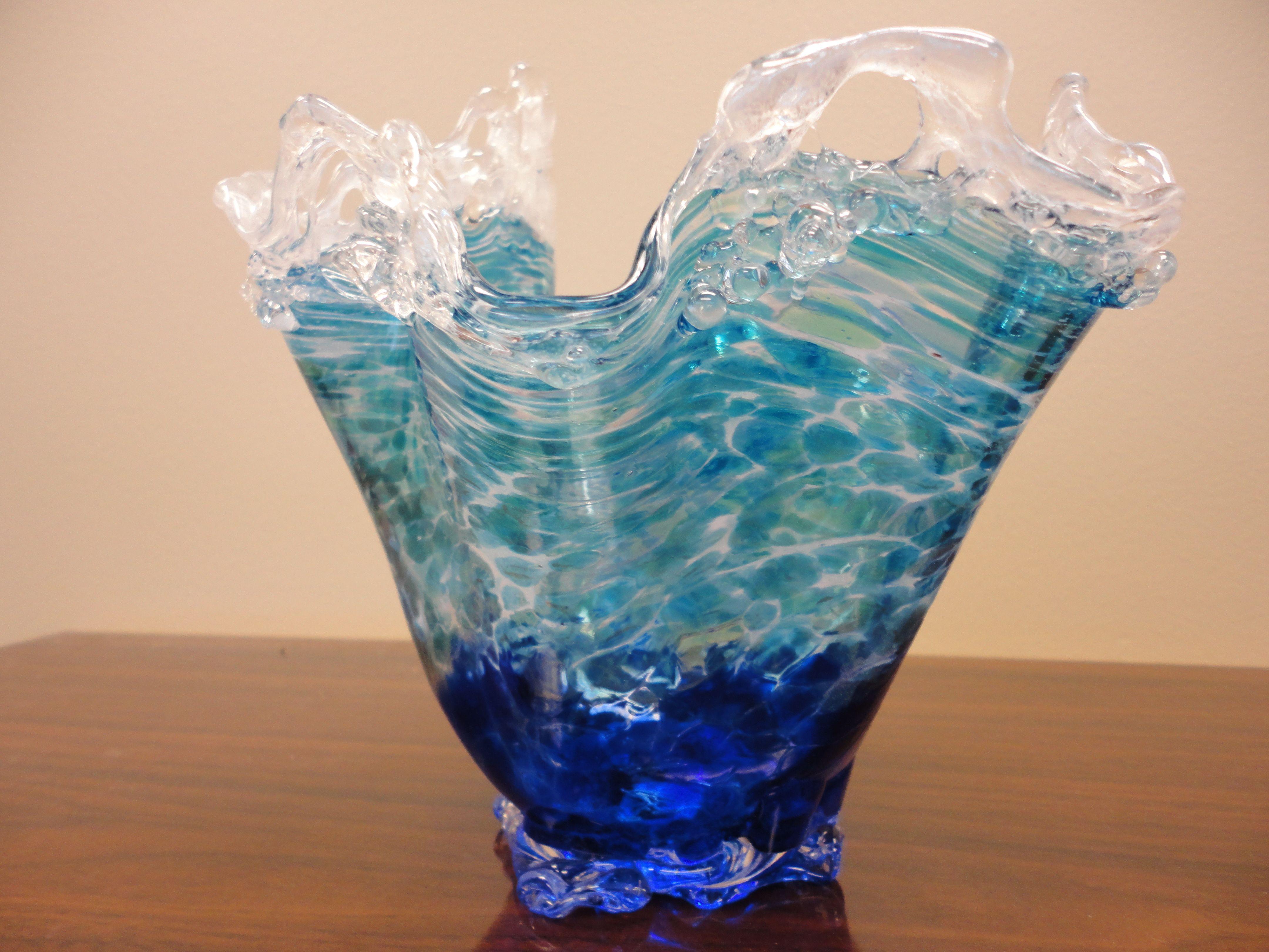 Daniel Moe Glass Wave Vase Glass Sculpture Glass Class Glass Art