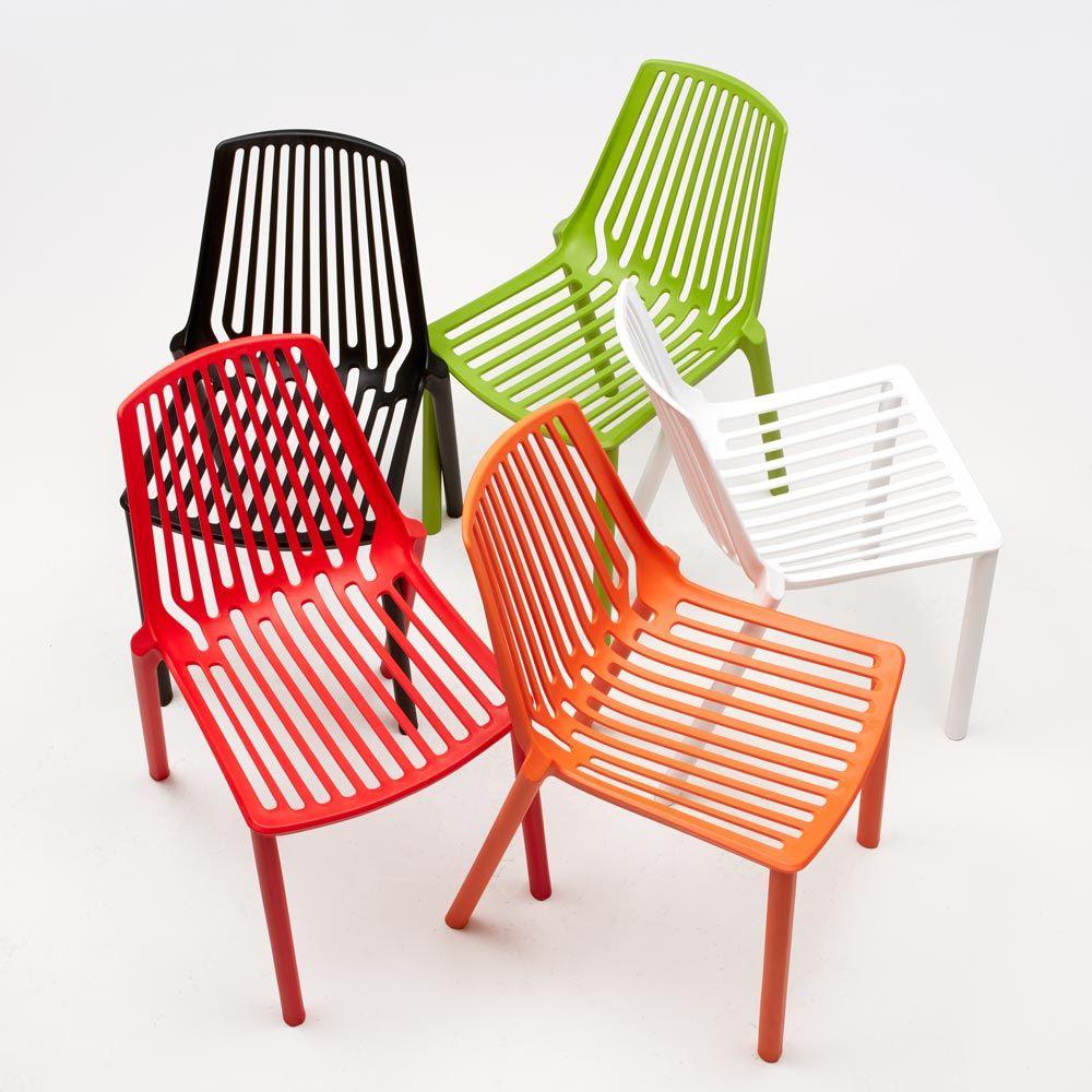 Chaise Pour Les Interieurs Et Les Exterieurs Empilables En Polypropylene Cafe Restaurant Et Jardin Design Line Chaise Chaise Bar Chaise Design