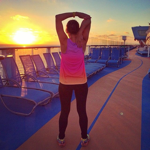 @keepcalmandloveaphotographer up with the sun while cruising the Caribbean #ActiveAbroad
