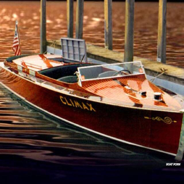 Climax A Chris Craft With Images Boat