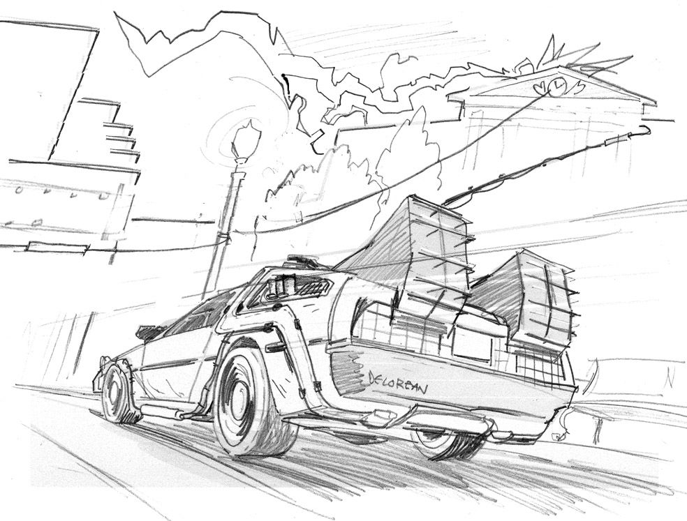 Lightnin Jpg 984 747 Earth Day Coloring Pages Coloring Pages Back To The Future