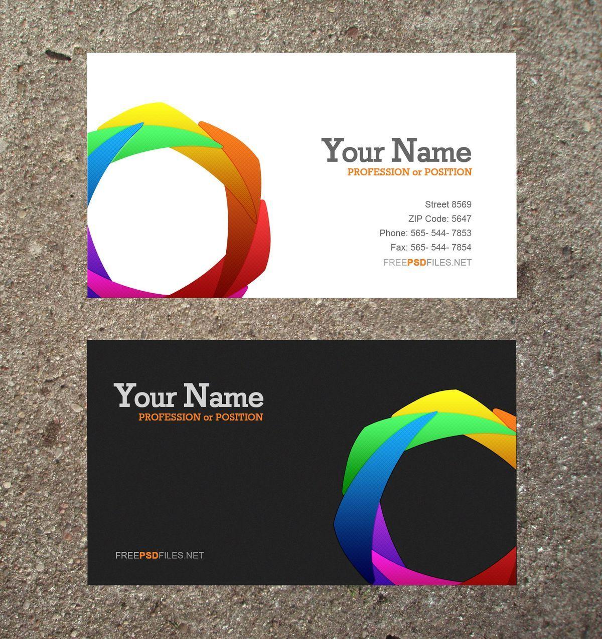 Entwerfen Und Drucken Sie Ihre Visitenkarten Online In