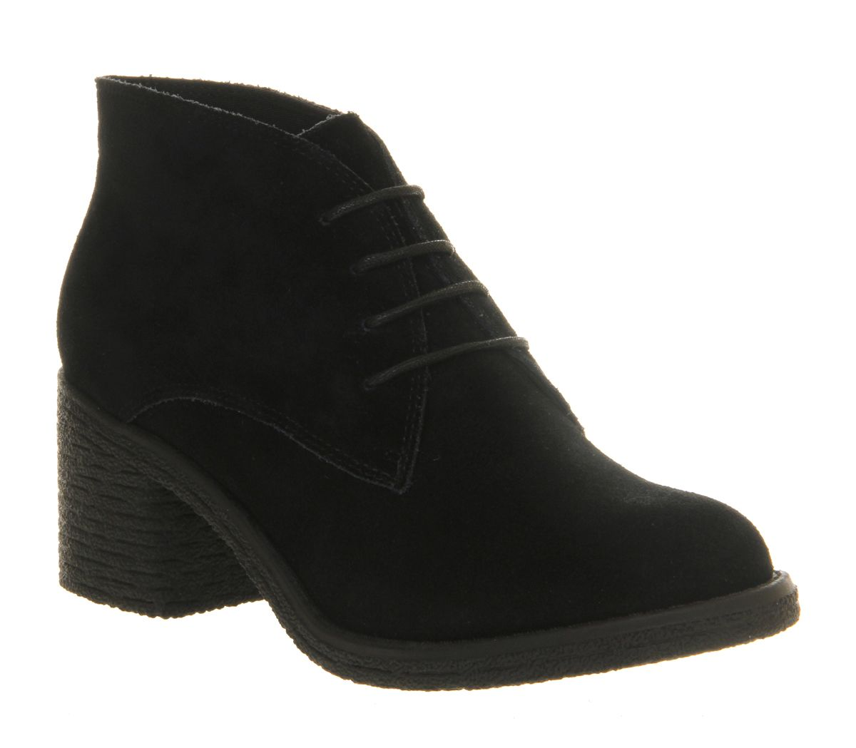 Office Keeper Lace Up Black Suede - Ankle Boots