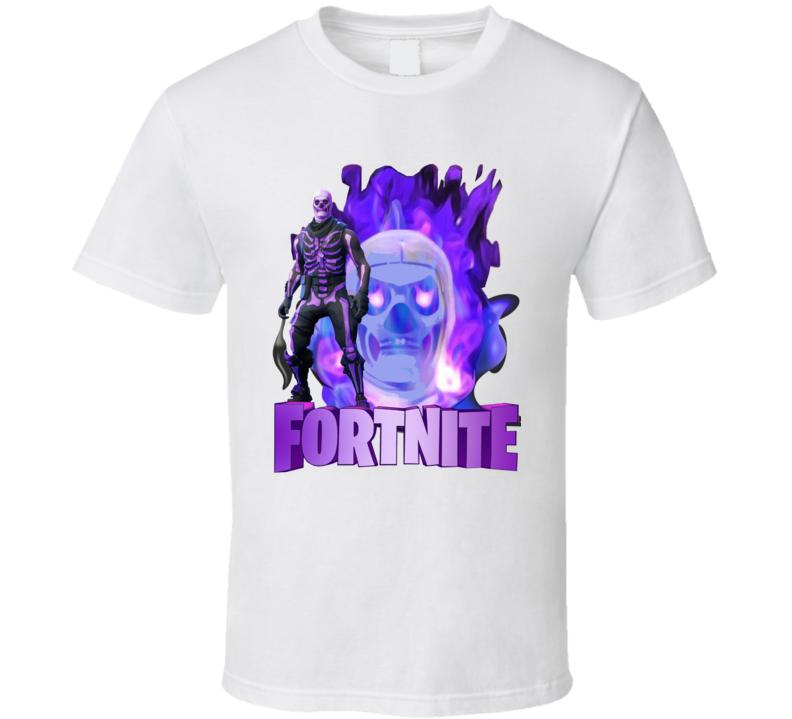 Fortnite Og Purple Skull Trooper Skin Character Video Game Fan T Shirt Graphic Apparel Shirts T Shirt