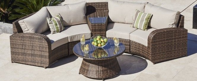 Arc 3 Half Moon Rattan Sofa Set Outdoor Sofa Sets Rattan Corner Sofa Sofa Set