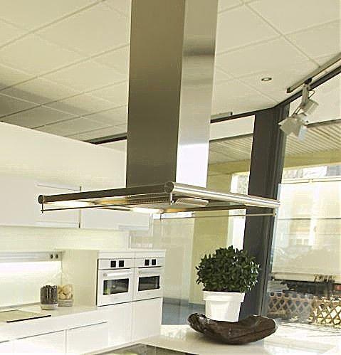 Dunstabzug DA430 Miele Inselesse Edelstahl Glas, 1035x700 mm - gebrauchte küchen in essen