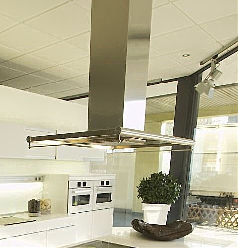 Abverkaufsküchen poggenpohl  Dunstabzug DA430 Miele Inselesse Edelstahl/Glas, 1035x700 mm ...