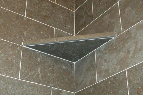 Making A Tile Shelf Cut From A Piece Of Tile Or Installing A Pre Made Ceramic  Tile Soap Dish In The Corner Or On A Wall. Description Fromu2026
