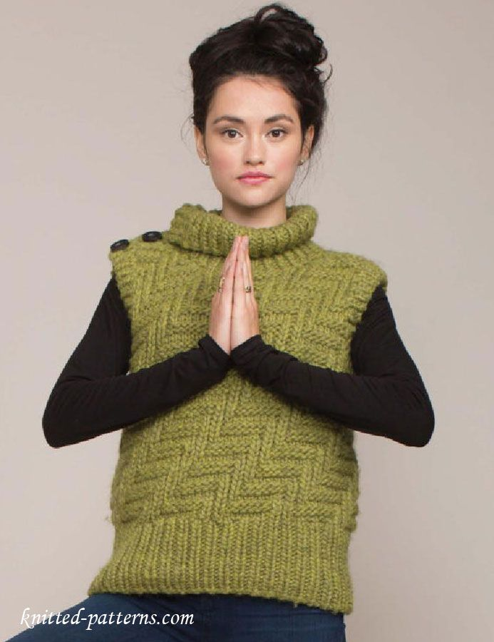 Womens Vest Knitting Pattern Free In 2018 Pinterest