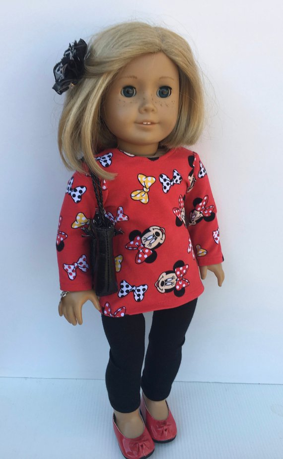 18 Inch Doll Clothes Fit American Girl Doll Minnie Mouse Outfit